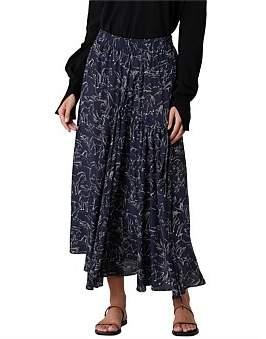 Lee Mathews Pony Print Asymmetric Skirt