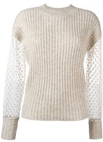 See by Chloe embroidered panel jumper