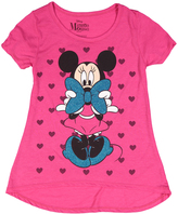 Jerry Leigh Fuschia Minnie Mouse Peeking Tee - Girls