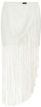 Magda Butrym London fringed leather skirt