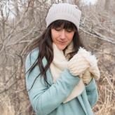 Muk Luks Women's Textured Slouch Beanie Hat