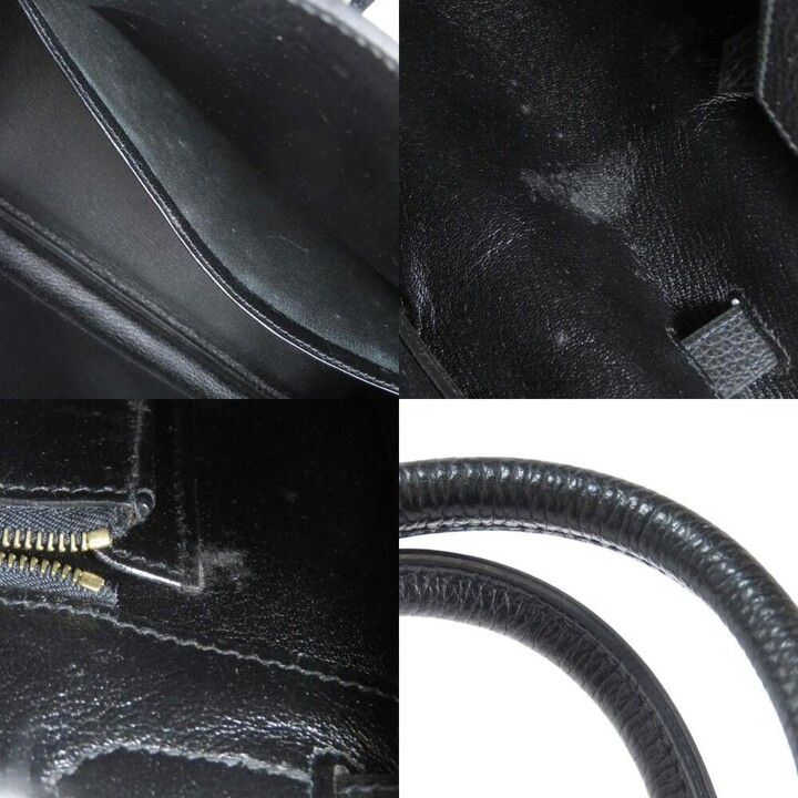 Thumbnail for your product : Hermes Black Leather Gold Hardware Birkin 35 Bag
