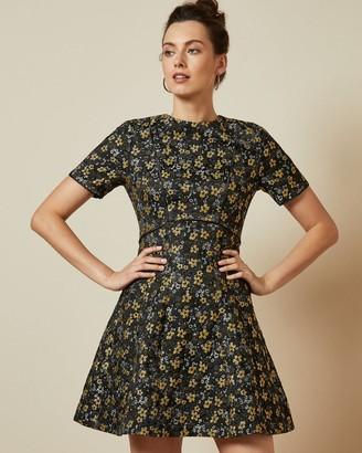 Ted Baker Floral Jacquard Skater Dress