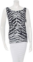 Saint Laurent Sleeveless Zebra Print Top