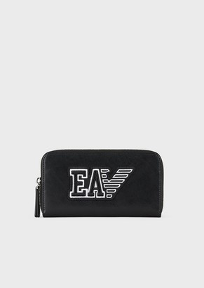 Emporio Armani Travel Essential Leather Wallet With Ea Patch