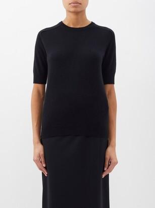Lisa Yang - Kenza Cashmere Short-sleeved Sweater - Black