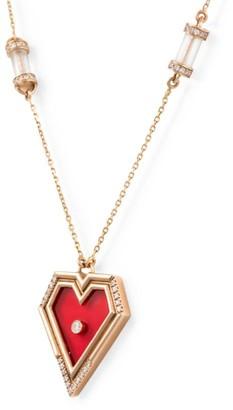 L'Atelier Nawbar Rose Gold And Diamond Amulets Of Light Pendant