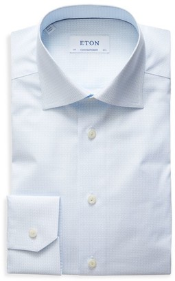 Eton Contemporary-Fit Micro Tea Cup Print Dress Shirt