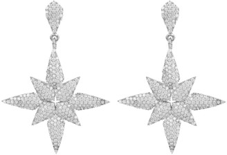 Latelita Star Flower Drop Earrings Silver