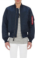Alpha Industries Men's MA-1 Flight Jacket-BLUE