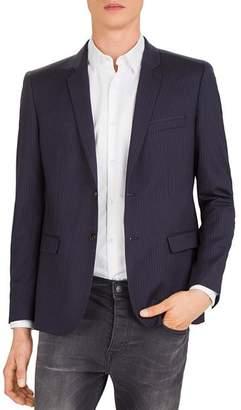 The Kooples Woolen Lines Slim Fit Blazer