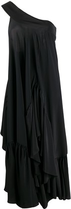 Rochas Draped One-Shoulder Dress