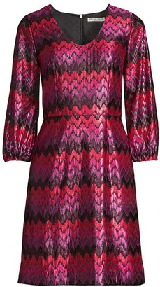 Trina Turk Nicole Chevron A-Line Dress