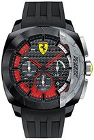 Ferrari Men's 830205 Aerodinamico Black Watch with Textured Silicone Band