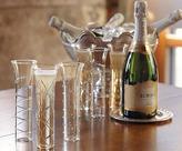 Napa Style Champagne Silver Swirl Glasses