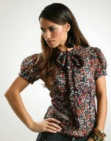 Fairground Retro Floral Bow Shirt