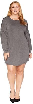 KARI LYN Plus Size Nimah Long Sleeve Dress (Heather Charcoal) Women's Dress