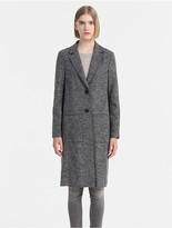 Calvin Klein Jeans Melange Wool Blazer Coat