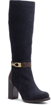 Tommy Hilfiger Suede And Leather Knee High Boot