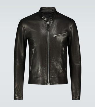 Tom Ford CafA leather biker jacket