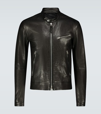 Tom Ford Cafe leather biker jacket