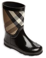 Burberry Toddler's Rubber & Check Cotton Rain Boots
