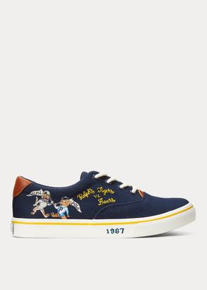 Ralph Lauren Thorton Doodle Canvas Sneaker