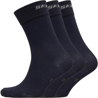 Skechers Three Pack Basic Crew Socks Navy