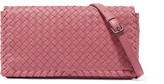 Bottega Veneta Intrecciato Leather Shoulder Bag - Pink