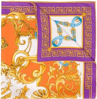 Versace V-Barocco print silk scarf