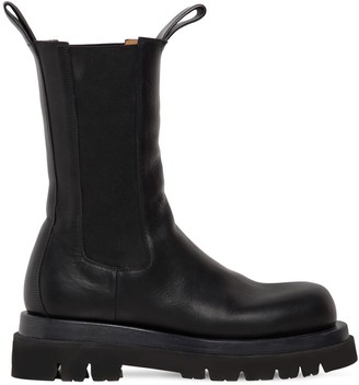 Bottega Veneta 50mm Lug Leather Beatle Boots