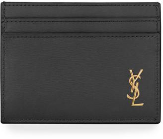 Saint Laurent Tiny Leather Card Holder Case