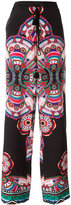 Roberto Cavalli abstract print drawstring trousers - women - Silk/Cotton/Viscose - 38