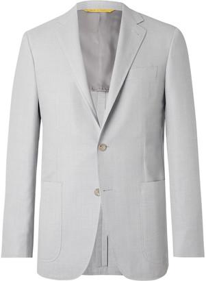 Canali Kei Slim-Fit Unstructured Super 130s Hopsack Wool Blazer - Men - Gray
