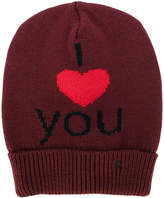 Raf Simons I Love You embroidered beanie