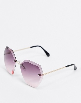 SVNX jewel sunglasses in blue