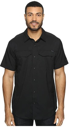 Columbia Silver Ridge Litetm Short Sleeve Shirt (Black) Men's Short Sleeve Button Up