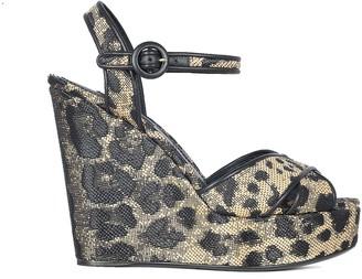 Dolce & Gabbana Wedge Heel Sandals