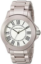 Cabochon Women's 327 Ceramique Analog Display Swiss Quartz Grey Watch