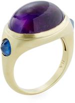 Ila Women's Damen Amethyst & Sapphire Ring