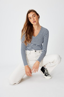 Cotton On Everyday Long Sleeve V Neck Top