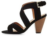Charlotte Russe Qupid Strappy Cone Heel Sandals