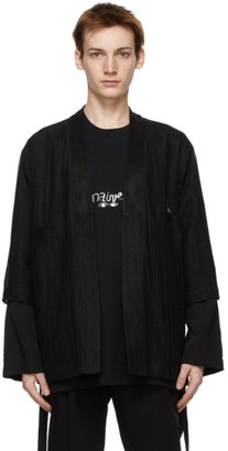 Song For The Mute Black Double Sleeve Kimono Jacket