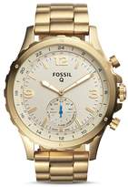 Fossil Q Nate Hybrid Stainless Steel Smartwatch, 50mm