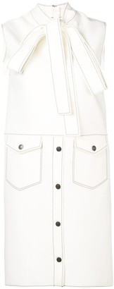 MSGM contrast stitch detail dress