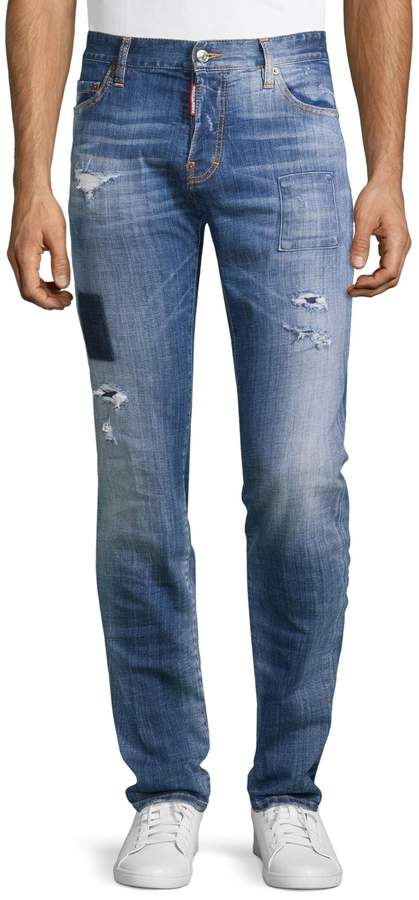 DSQUARED2 Distressed Stretch Jeans