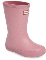 Hunter Toddler Girl's 'First Classic' Glitter Rain Boot
