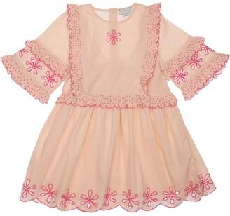 Stella McCartney Kids Organic Cotton Lace Dress