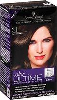 Schwarzkopf Ultime Hair Color Cream, 3.1 Espresso Black, 2.03 Ounce