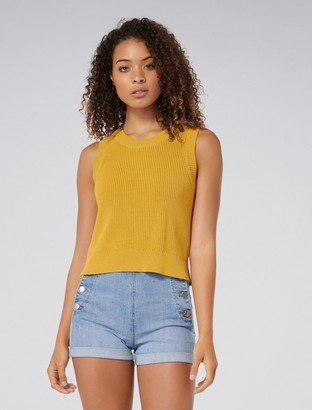 Forever New Ainsly Crop Tank - Ochre - xs